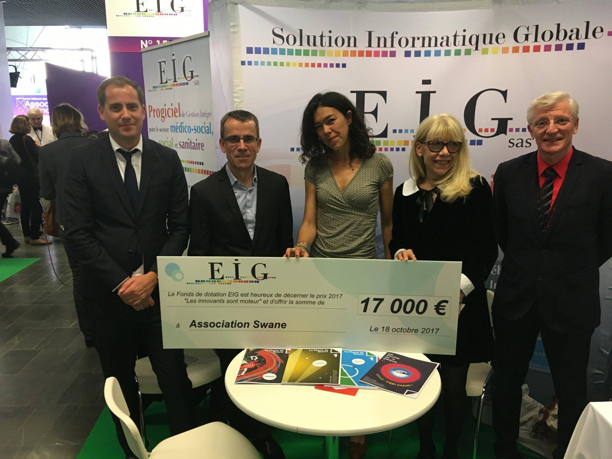 Swane lauréate du Prix EIG Les innovants sont moteurs
