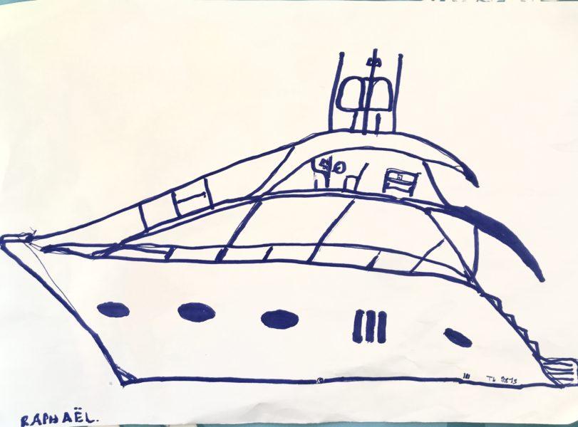 Raphaël est un amoureux de la navigation et des bateaux !