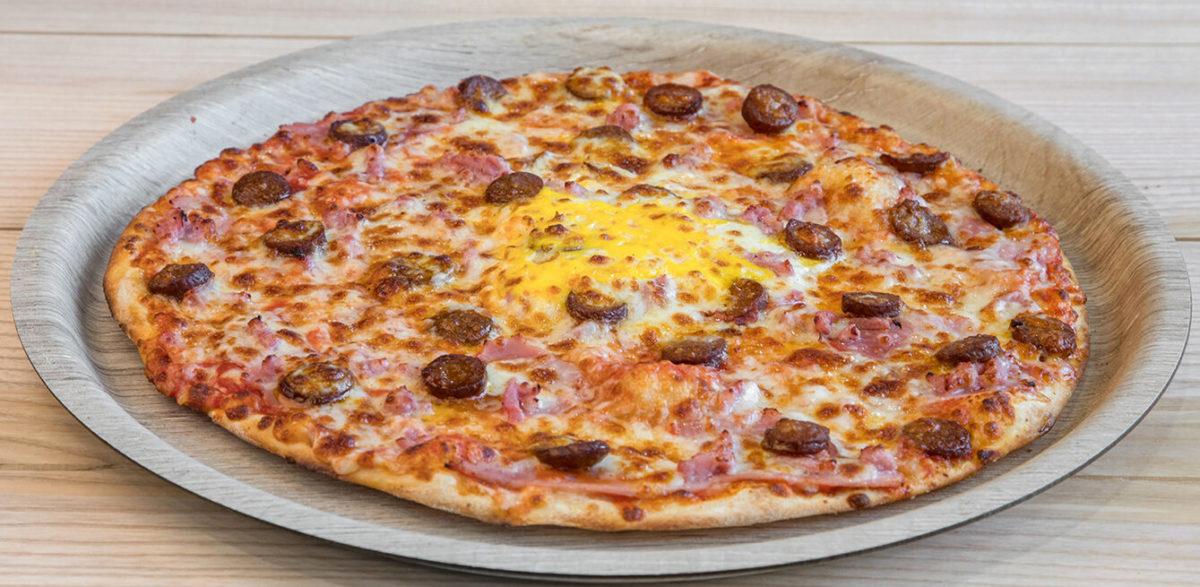 La pizza aux merguez